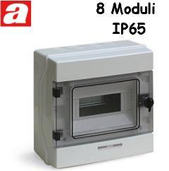 Centralino da Parete 8 Moduli IP65 AVE