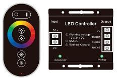 Controller RGB RF 12/24V 432w con Telecomando RF