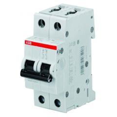 Interruttore Magnetotermico 2M 2x10A 4,5kA S202L ABB
