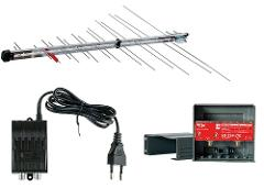 Kit Logaritma 345LTE + Alimentatore 300mA + Amplificatore 22dB FTE Maximal