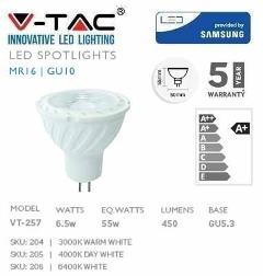 Lampada Led 6,5W 12v 110° Luce Fredda 450 Lumen Samsung