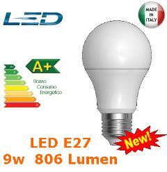 Lampada Led Goccia E27 9w Luce Fredda 806 Lumen