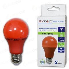 Lampada Led Goccia E27 9w Luce Rossa