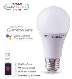 Lampada Led Goccia SMART E27 5w RGB+WW+CW V-TAC
