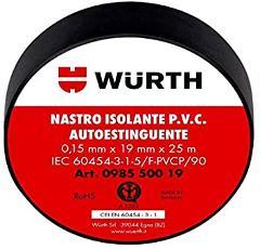 Nastro Isolante 19x25 Nero Wurth