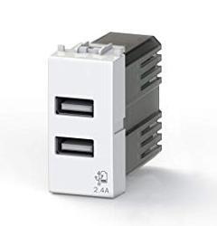 Presa USB 2,4A Compatibile Vimar Plana Vimar