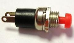 Pulsante NA Unipolare Rosso 1A 125V
