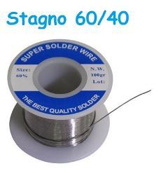 Rocchetto di Stagno 60/40 0,8mm 100gr