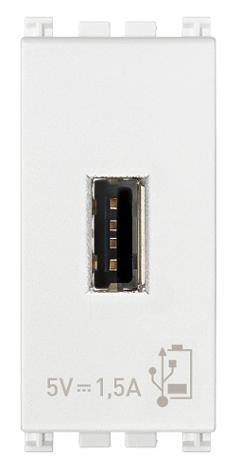 Unità di Alimentazione USB 1 Modulo Bianca Vimar