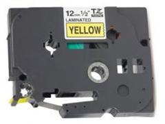 Nastro Laminato 12mm Nero su Giallo per Etichettatrice Brother