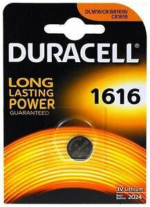 Batteria a Bottone 3V CR1616 Litio Duracell DL1616
