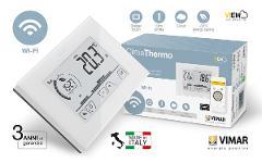 Termostato touch WiFi da parete bianco Vimar ClimaThermo