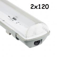 Plafoniera IP65 2x120cm Per neon LED Century