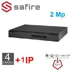 DVR 5in1 4 Canali 2 Megapixel LITE H265 SAFIRE