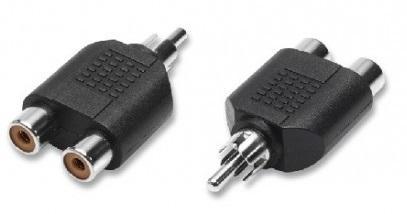 Adattatore Audio 1 Spina RCA / 2 Prese RCA