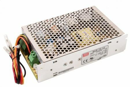 Alimentatore Switching 75W 12v 5,4A Con Caricabatteria Mean Well