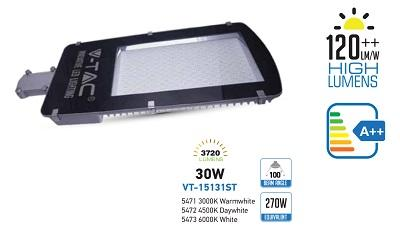 Armatura Stradale a LED 30W Luce Natura 4500°K 3720 Lumen V-TAC