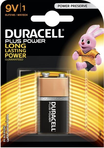 Batteria 9V Alkalina Duracell Plus Duracell MN1604