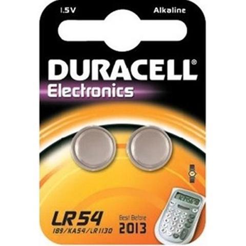Batteria a Bottone 1,5V LR54 189 AG10 V10GA Duracell LR54