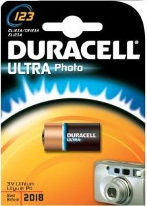 Batteria LITIO CR123A Duracell Ultra Photo Duracell CR123A