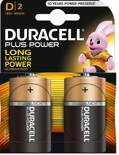 Batteria Torcia Alcalina Duracell Plus Duracell MN1300