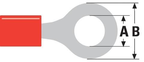 Capicorda Isolato a Occhiello Rosso da 0,5-1,5mm Foro 5