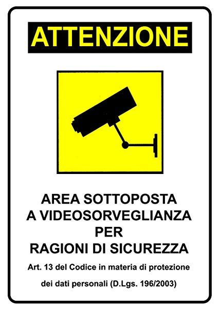 Cartello Area Videosorvegliata 30x20