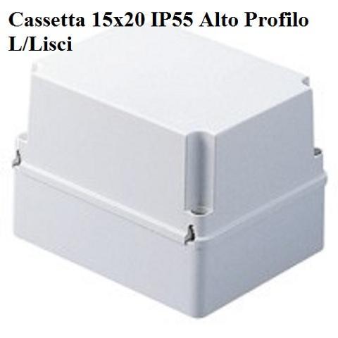 Cassetta 15x20 IP55 Alto Profilo L/Lisci