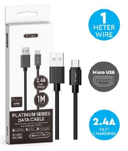 Cavo USB 2.0 Micro USB 1mt 2.4A V-TAC