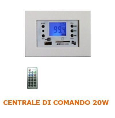Centralina FM/MP3 20w per scatola 503 Multiplacca Bianca RTS TS-709/B