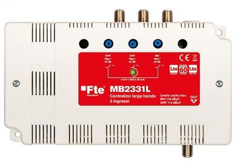 Centralino Autoalimentato VHF / UHF / UHF 22 dB 30 Utenze FTE Maximal