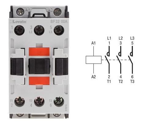 Contattore 3P+1NO 25A AC3 24V