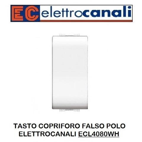 Copriforo Liscio Bianco Elettrocanali