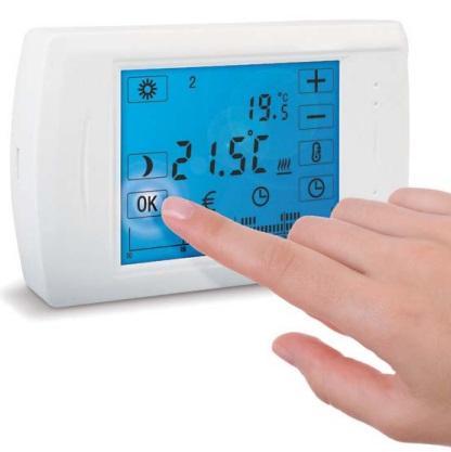 Cronotermostato Settimanale Touch Screen da parete SENSO N Solaris SENSO N