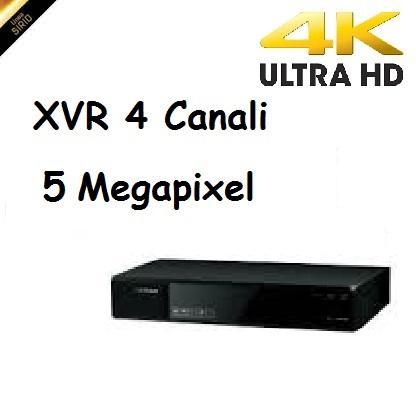 DVR 5in1 4 Canali 5 Megapixel Videostar
