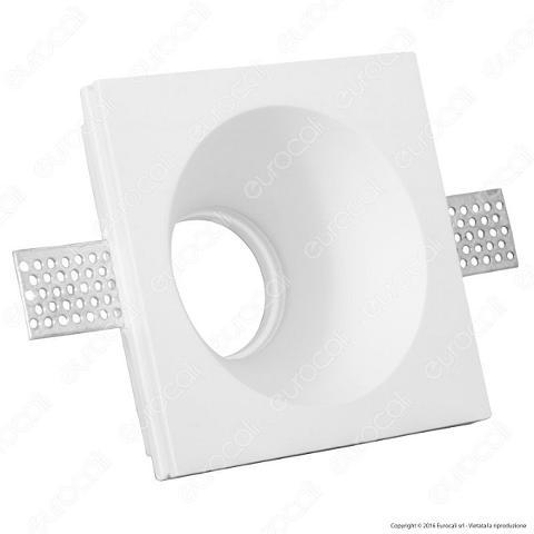 Faretto Incasso Gesso Quadrato 121x121