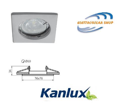 Faretto Incasso Quadrato Fisso Bianco ALOR DSL-W Kanlux