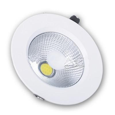 Faretto Incasso Rotondo 10W LED Completo di Trasformatore Luce Fredda