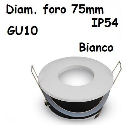 Faretto incasso Rotondo IP54 Bianco V-TAC