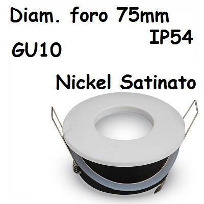 Faretto incasso Rotondo IP54 Nikel Satinato V-TAC