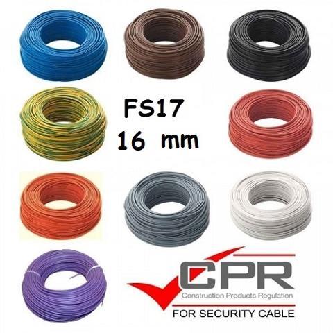 Filo Unipolare 1x16 Giallo Verde FS17  FS171X0160GV