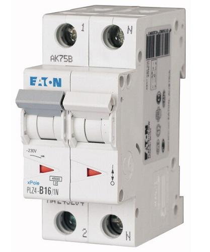 Interruttore Magnetotermico 2x16A C 4,5KA PLZ4-C16/1N-MW EATON 243230