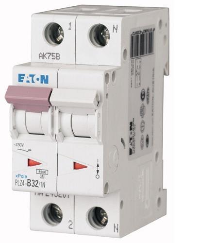 Interruttore Magnetotermico 2x32A C 4,5KA PLZ4-C32/1N-MW EATON PLZ4-C32/1N-MW