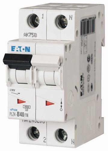 Interruttore Magnetotermico 2x40A C 4,5KA PLZ4-C40/1N-MW EATON PLZ4-C40/1N-MW