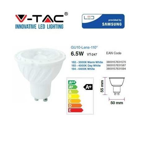 Lampada Led 6,5W GU10 110w 480 Lumen Luce Fredda Samsung