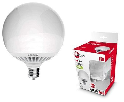 Lampada Led Globo E27 24w Luce Calda 2100 Lumen Century ARB-242730
