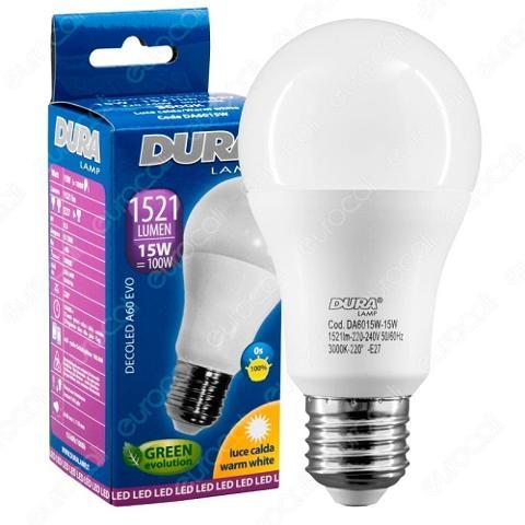 Lampada Led Goccia E27 18w Luce Natura 2040 Lumen Duralamp