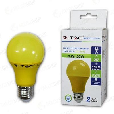 Lampada Led Goccia E27 9w Luce Gialla