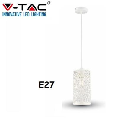 Lampadario Sospensione Bianco E27 V-TAC