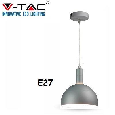 Lampadario Sospensione Grigio E27 V-TAC